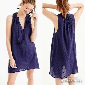 J. Crew Clipdot Textured Tunic Dress